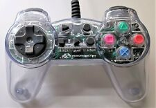 Performance Clear Controller Game Pad for Sony PlayStation PS1 TESTED