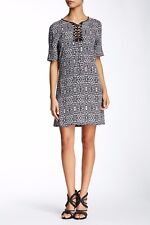 TWELFTH STREET BY CYNTHIA VINCENT Diamond Leopard Lace Up Dress Size S NWT $275