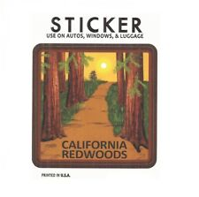 "California Redwoods Vinyl Sticker - Made in USA, Fade Resistant, 3"" x 3"""