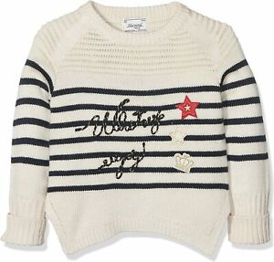 Mayoral Girls Striped Jumper in Mazapan Aged 2 Yrs ( Clearance Price)