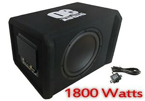 """Active Subwoofer 12"""" Subwoofer Bass box built in amp OE Audio 1800w - NEW MODEL"""