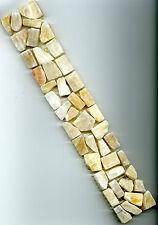 Fliese Bordüre Mosaik Marmor Bruchstein Onyx