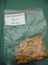 Aberdeen Gold Hooks Size 4 Qty 100