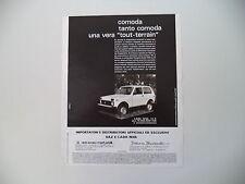 advertising Pubblicità 1984 LADA NIVA 4x4