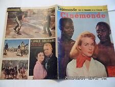 CINEMONDE N°1076 18/3/1955 B.LAAGE LOLLOBRIGIDA D.GELIN F.ARNOUL D.CARREL   K10