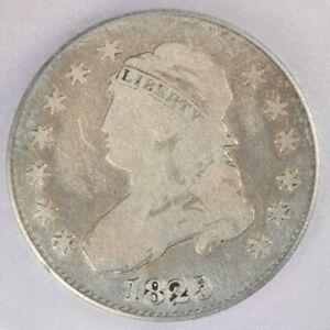 1825/4/2 Capped Bust Quarter ICG G6 G06