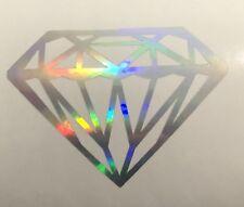 Diamond Decal Car Window Vinyl Jewel Love Laptop Sticker NEO CHROME OIL SLICK
