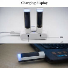 Portable Plastic USB Battery Charger Ni-MH AA AAA C824 Rechargeable Batteries