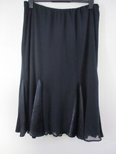 Wallis Blk Maxi skirt.UK 16 EU 44.Sheer shell,satin style panels.Elasticated.