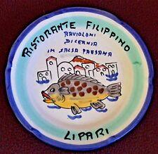 BUON RICORDO PLATE SOLIMENE VIETRI ITALIAN CERAMIC LIPARI RAVIOLONI 1996