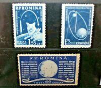 """ROMANIA 1959 """"CONQUISTA DELLO SPAZIO"""" SERIE NUOVA MNH** SET (CAT.J)"""
