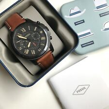 Fossil Watch * FS5241 Grant Chronograph Black Case Brown Leather COD PayPal