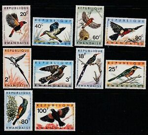 Rwanda   1969   Sc # 239-48   Birds   VLH   (55252)