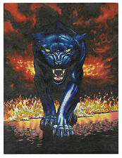 "Dufex Foil Picture Print - Fire Panther - size 6"" x 8"""