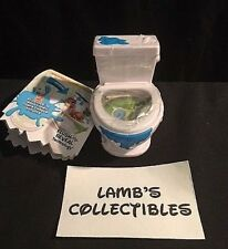 """Flush Force series 1 - one 3"""" toilet with 2 flushies collector guide Spin Master"""