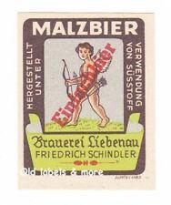 x3182 Brauerei LIEBENAU Fr. Schindler Malzbier Bieretikett BE beer label