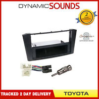 Car Stereo Radio Fitting Kit Fascia Panel & Wiring Loom For Toyota Avensis T25
