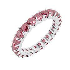 1.50 Carat Ruby U Prong Full Eternity Ring, White Gold UK Hallmarked