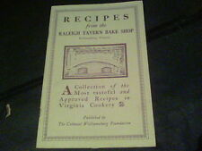 1985 Recipes from the Raleigh Tavern Bake Shop  s12