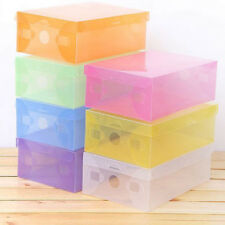 Clear Plastic Shoe Storage Transparent Stackable Tidy Organizer Box  NEW NEW