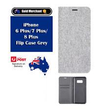 iPhone 6 Plus/7 Plus/8 Plus Flip Case Grey 03/18