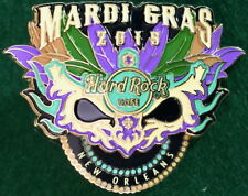 Hard Rock Cafe NEW ORLEANS 2015 MARDI GRAS PIN Jester Party 3D MASK Beads #82214