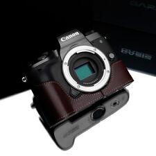 GARIZ Leather Half Case for Canon EOS M5 XS-CHEOSM5BR Brown