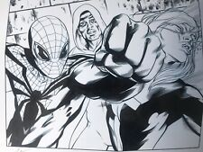 SUPERIOR SPIDER-MAN TEAM-UP ISSUE 1 PAGE 2  BLUELINE SIGNED & INKED ANDY OWENS