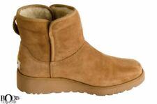 UGG KRISTIN CHESTNUT SUEDE SHEEPSKIN SLIM CLASSIC WOMEN'S BOOTS SIZE US 8.5 NEW