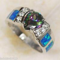Ring 59 Fingerring plattiert  Kristall Zirkonia Verlobungsring Silberring
