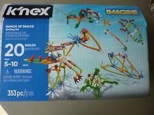 K'Nex 353 Piece Construction Kit 20 Models Bunch of Builds Building Set 34698