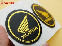 New Pair Gas Tank Fairing Round Sticker Decal Emblem for Honda Wing Gold Black