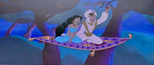 Disney Aladdin Cel Magic Carpet Ride Rare Animation Art Limited Edition Cell