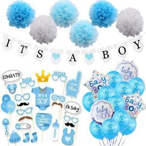 Babyparty Junge Mädchen Ballons Party Gender Birthday Babyshower Deko Set