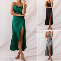 Womens Summer Sleeveless Strap Slip Dress Ladies Evening Party Club Dresses Plus