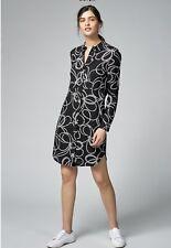 Brand New, WAREHOUSE BLACK & WHITR SHIRT DRESS SIZE 14