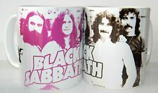 BLACK SABBATH / OZZY - SET OF TWO 11oz MUGS FEATURING RARE EARLY 70's DESIGN