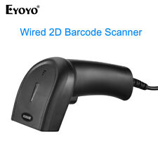 Eyoyo 1D 2D QR Wired Barcode Scanner Bar Code Reader with USB cable for Computer