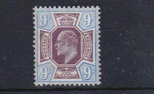 G BRITAIN (SL175) SG 251 - 1902 9d Slate purple/Ult - Lightly hinged