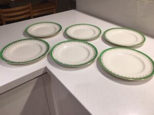 "VINTAGE DECO ""PRIDE OF ERIN""  BY ALFRED MEAKIN DINNER PLATES - 25 cms"