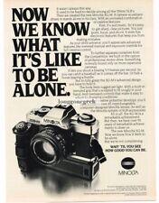 1981 Minolta XG-M 35mm SLR Camera Vtg Print Ad