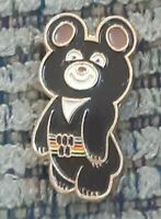 Sport pin badge Olympic games Moscow 1980 Misha bear mascot USSR Russia Vtg OLD