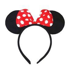 Red Polka Dot Pink Black Minnie Mickey Fancy Party Bow Ear Headband Mouse Ears