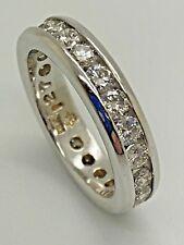 18ct White Gold 1.00ct Full Eternity Certified Diamond Ring