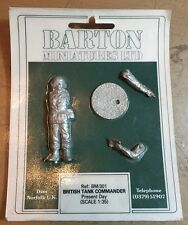 BARTON MINIATURES BM/301 - BRITISH TANK COMMANDER PRESENT 54mmWHITE METAL KIT