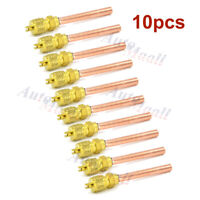 "10x HVAC Service/Access Valve 1/4"" SAE * 1/4"" OD * 2.75"" Stem Core Refrigeration"