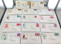 JOB LOT 101 USA 1948 FIRST DAY COVERS. UNCLE REMUS, ROUGH RIDERS, WILL ROGERS