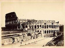 Rome Colosseum Vintage oversized albumen ph. 24,5x34,5 Cuccioni attr. 1870 XL134
