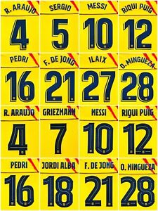 2019-21  FC Barcelona Player Issue nameset Senyera 4th Messi jersey shirt