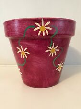 Indoor Plant / Flower Pot - Daisy Chain - Hand Painted by Sam in Ireland 17 cm H